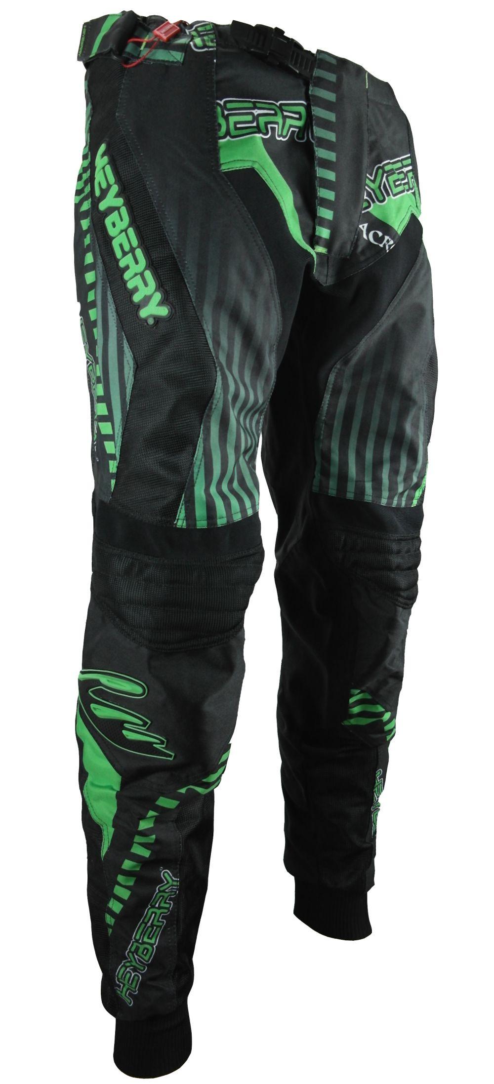 Heyberry Motocross Enduro Quad Hose schwarz grün Gr. M L XL XXL