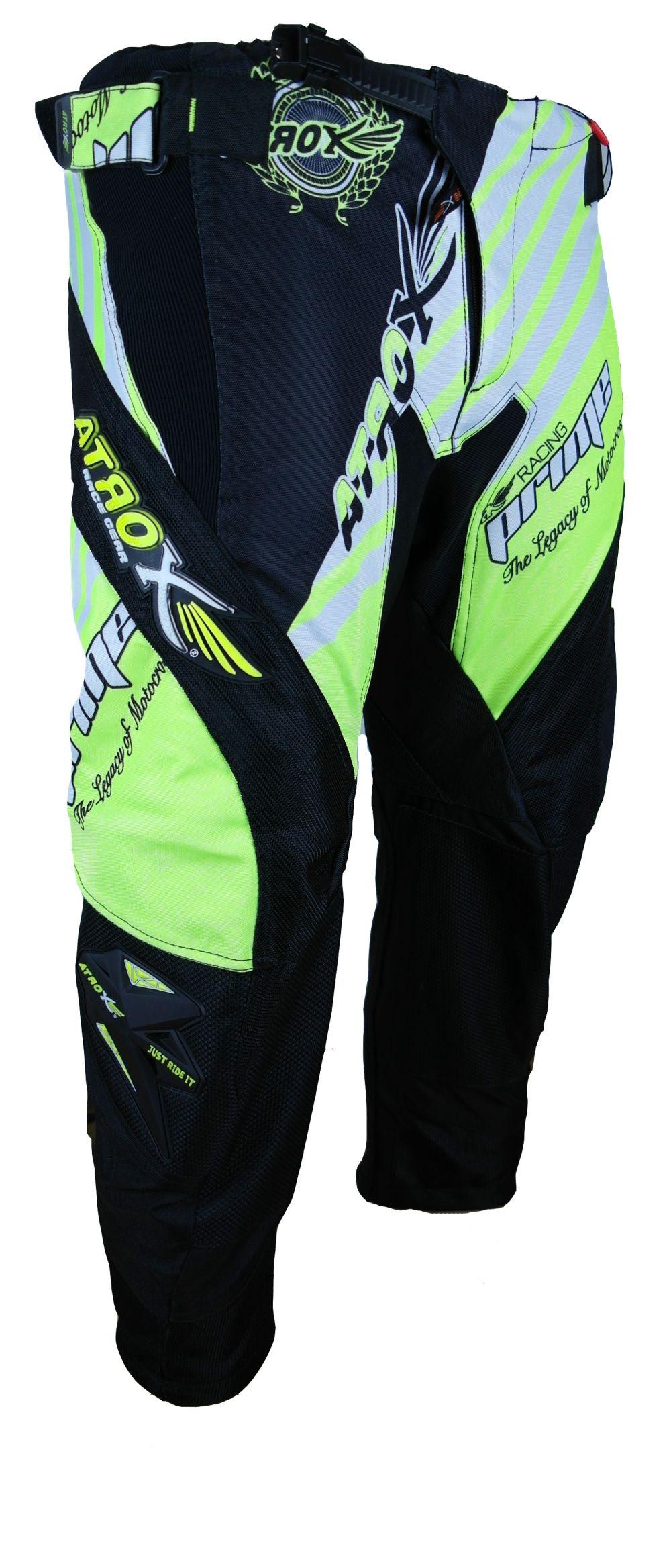 Heyberry MX-Cross Quad Motocross Hose schwarz weiß grün  M L XL XXL