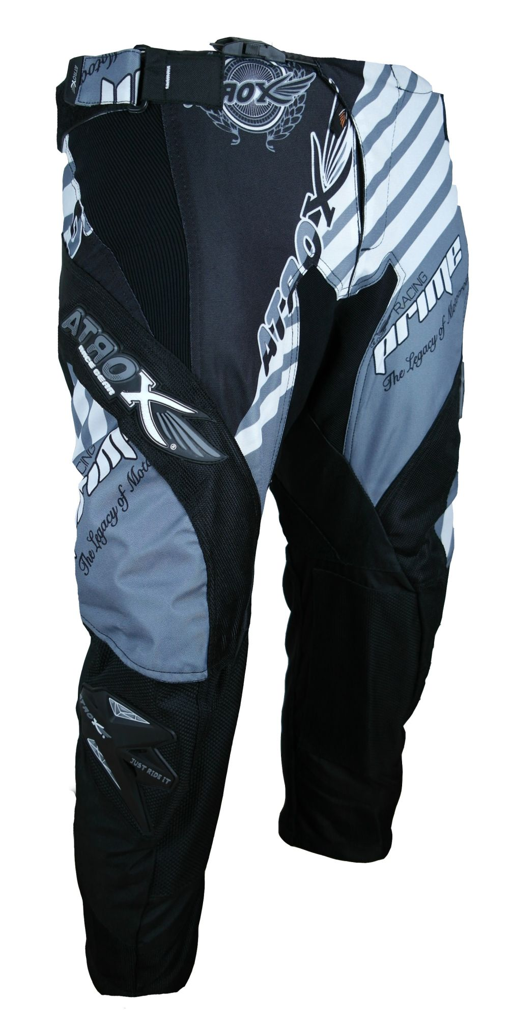 Heyberry MX-Cross Quad Motocross Hose schwarz weiß grau M L XL XXL