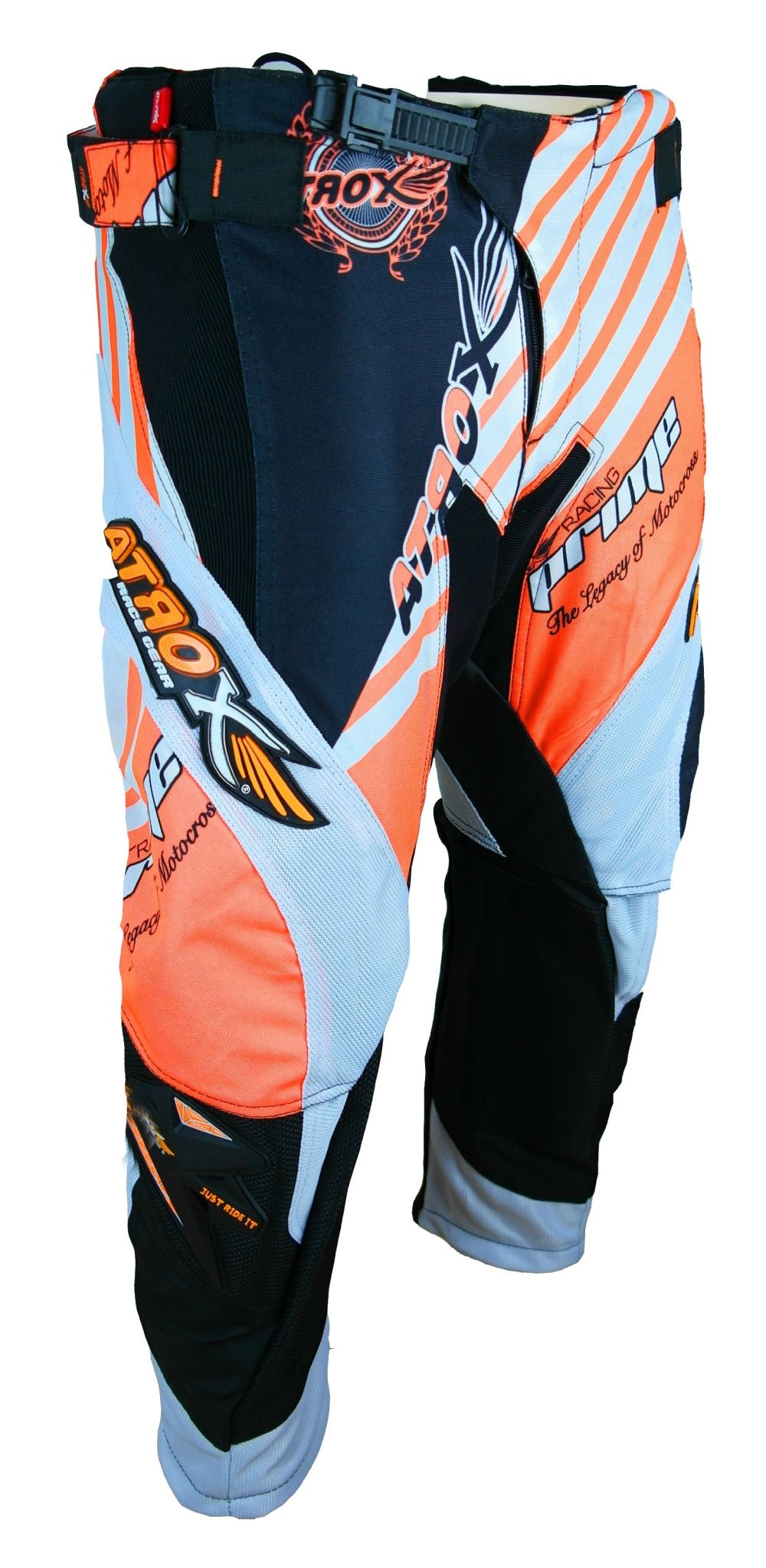 Heyberry MX-Cross Quad Motocross Hose schwarz weiß orange M L XL XXL