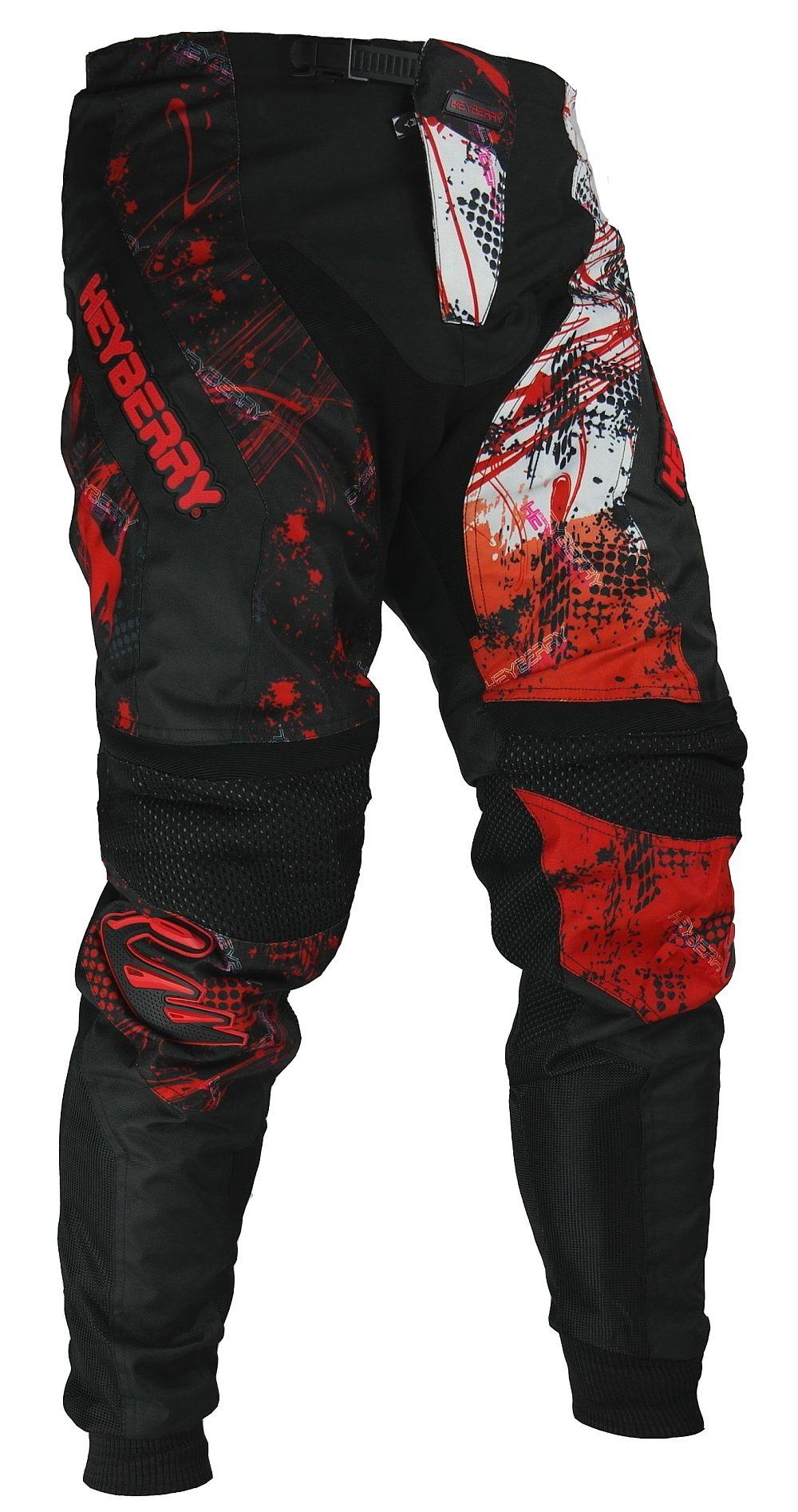 Heyberry Motocross Enduro Quad Hose schwarz weiß rot Gr. M - XXL