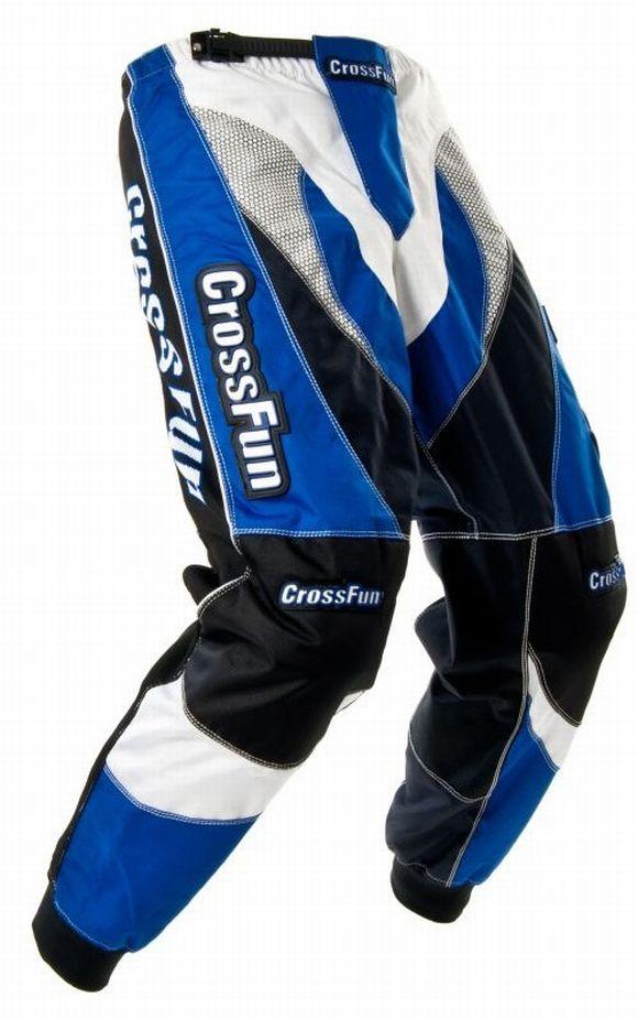 Kinder Motocross Hose blau weis schwarz Gr. 116 bis 164
