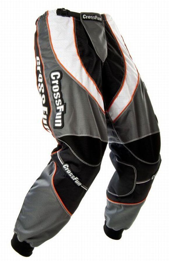 Motocross Hose grau weiß schwarz Gr. S bis XXXL