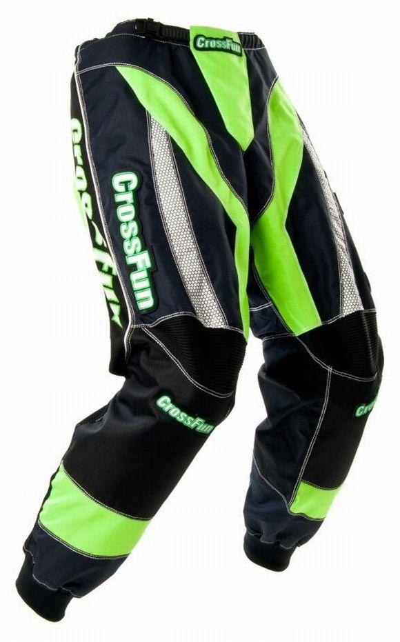 Kinder Motocross Hose grün weiß schwarz Gr. 116 bis 164
