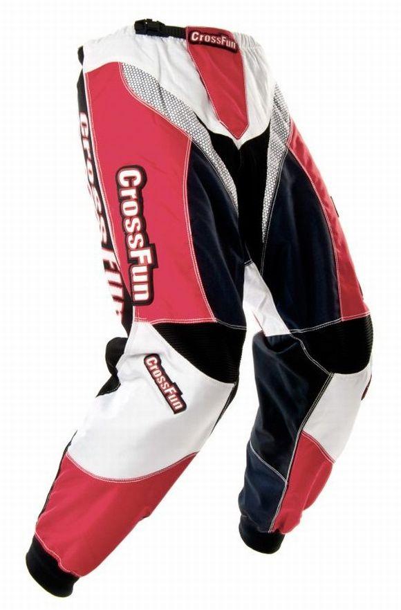 Kinder Motocross Hose rot weiß schwarz Gr. 116 bis 164