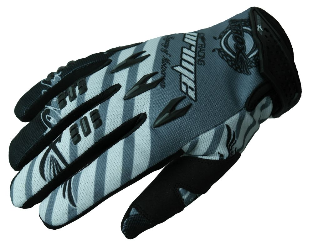 Heyberry MX-Cross Quad Motocross  Handschuhe schwarz weiß grau M L XL XXL