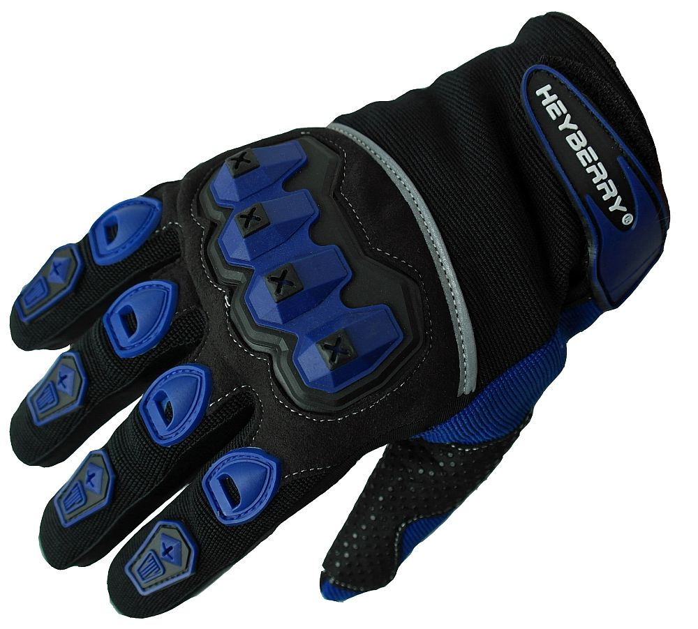 Heyberry Motocross Offroad MTB MX Handschuhe schwarz blau Gr. S - XXL