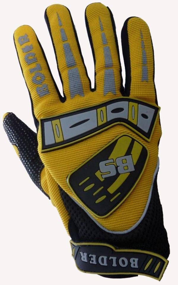 Motocross Handschuhe Farbe: gelb . Größe: M -XXL