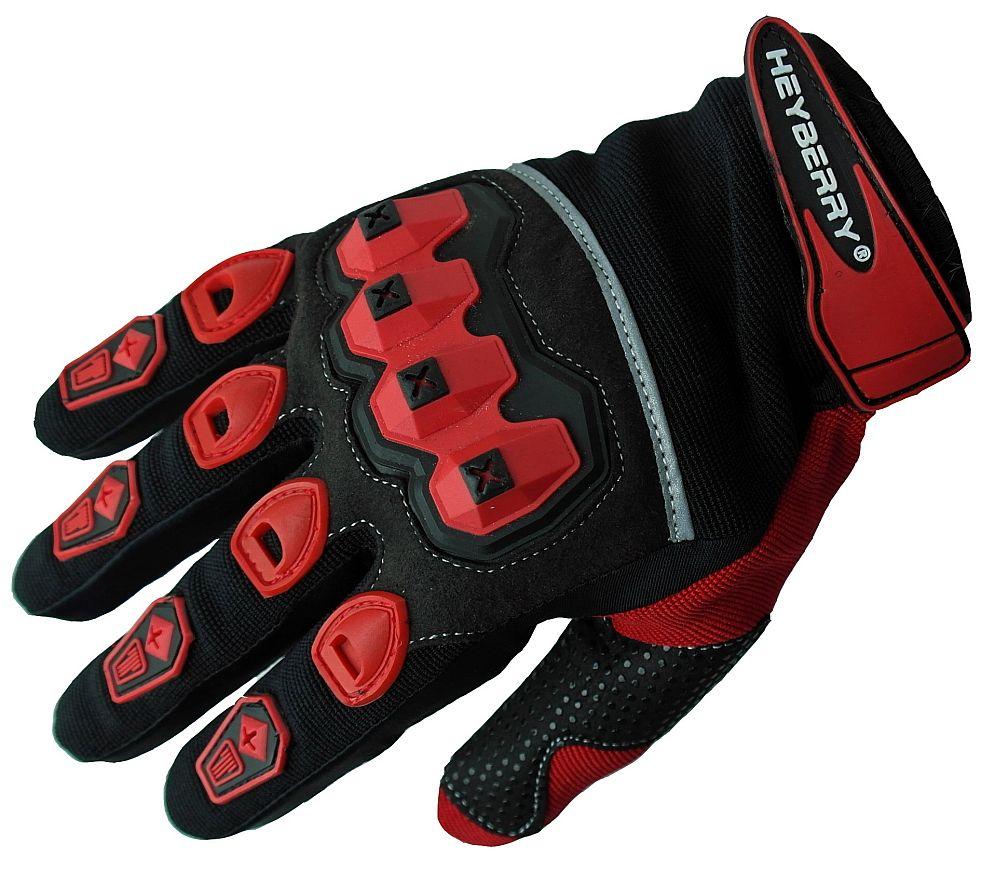Heyberry Motocross Offroad MTB MX Handschuhe schwarz rot Gr. S - XXL