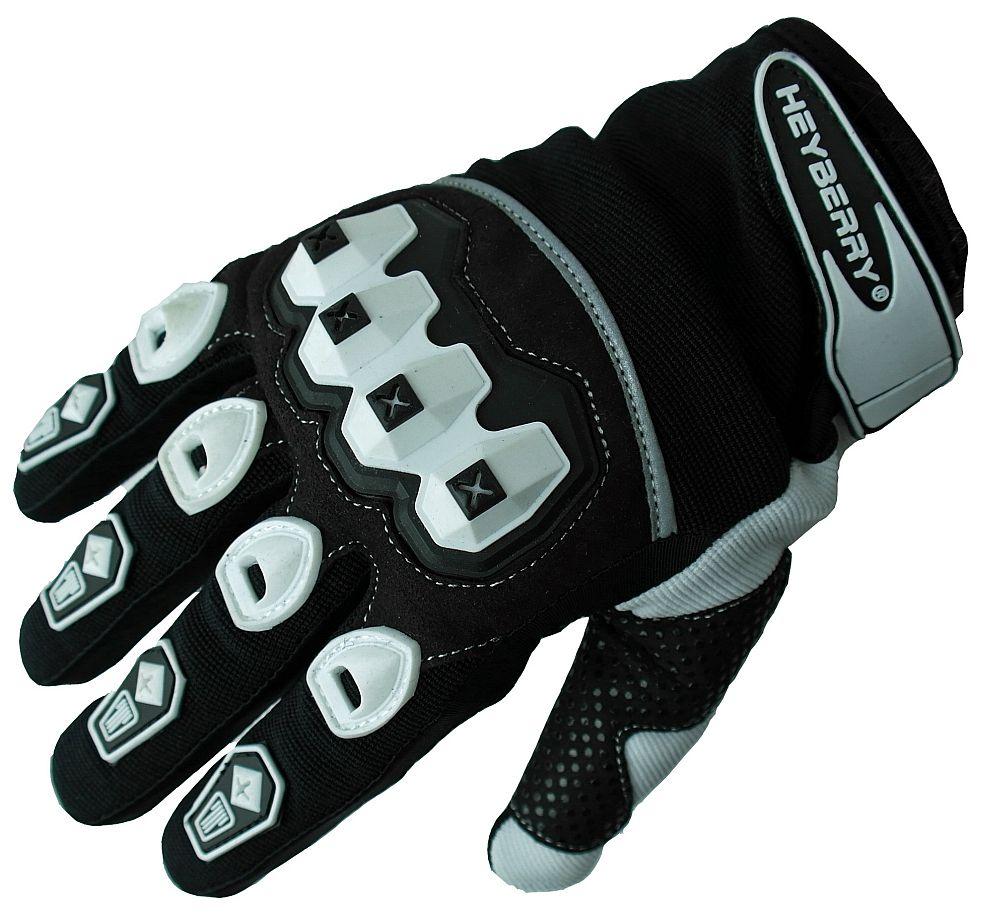 Heyberry Motocross Offroad MTB MX Handschuhe schwarz weiß Gr. S - XXL