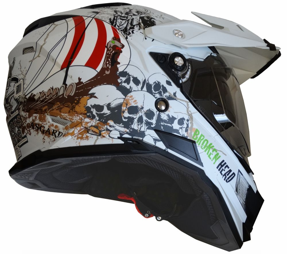 mx enduro quad helm fullgas viking matt wei mit visier. Black Bedroom Furniture Sets. Home Design Ideas