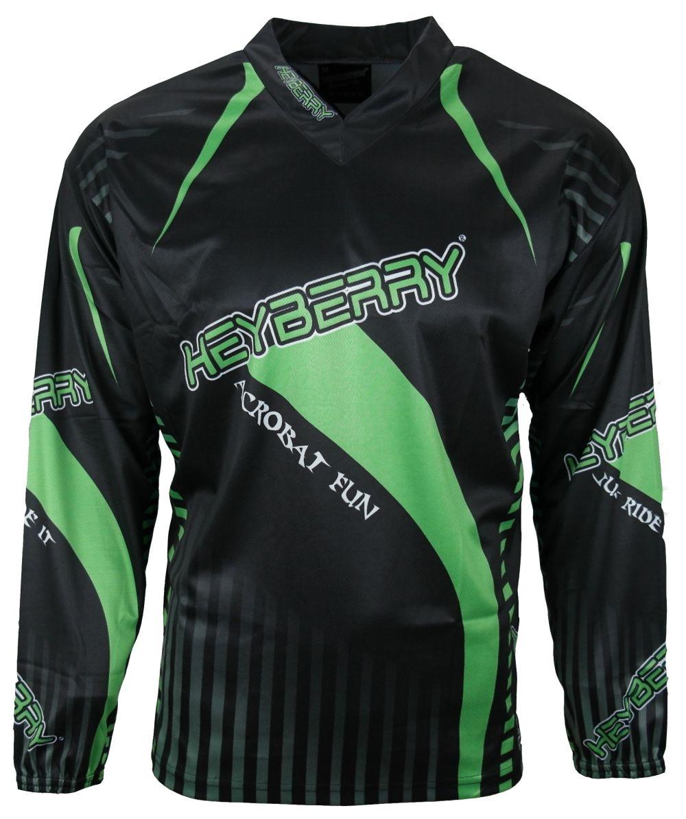 Heyberry Motocross MX Shirt Jersey Trikot schwarz fluorgrün Größe M L XL XXL