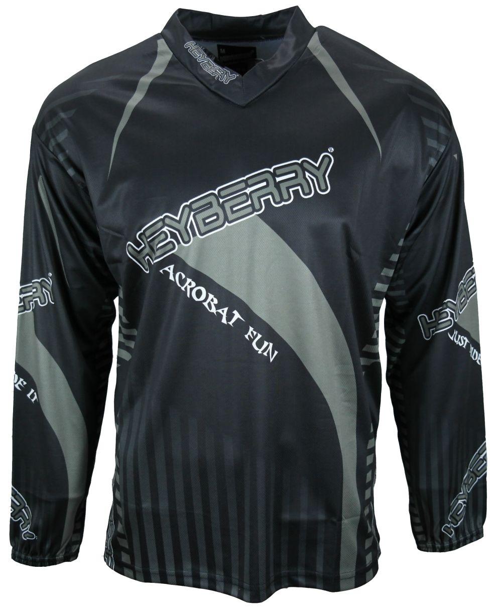 Heyberry Motocross MX Shirt Jersey Trikot schwarz grau Größe M L XL XXL