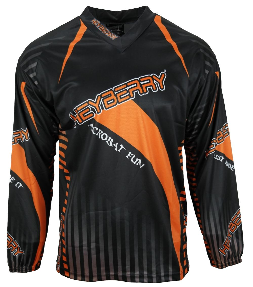 Heyberry Motocross MX Shirt Jersey Trikot schwarz orange Größe M L XL XXL