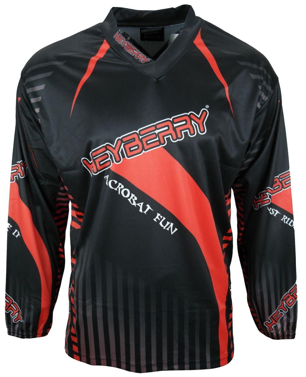 Heyberry Motocross MX Shirt Jersey Trikot schwarz rot Größe M L XL XXL