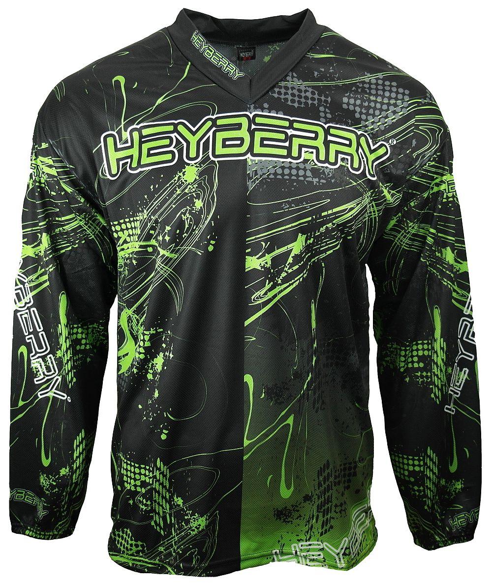Heyberry Motocross MX Shirt Jersey Trikot schwarz grün Gr. M - XXL