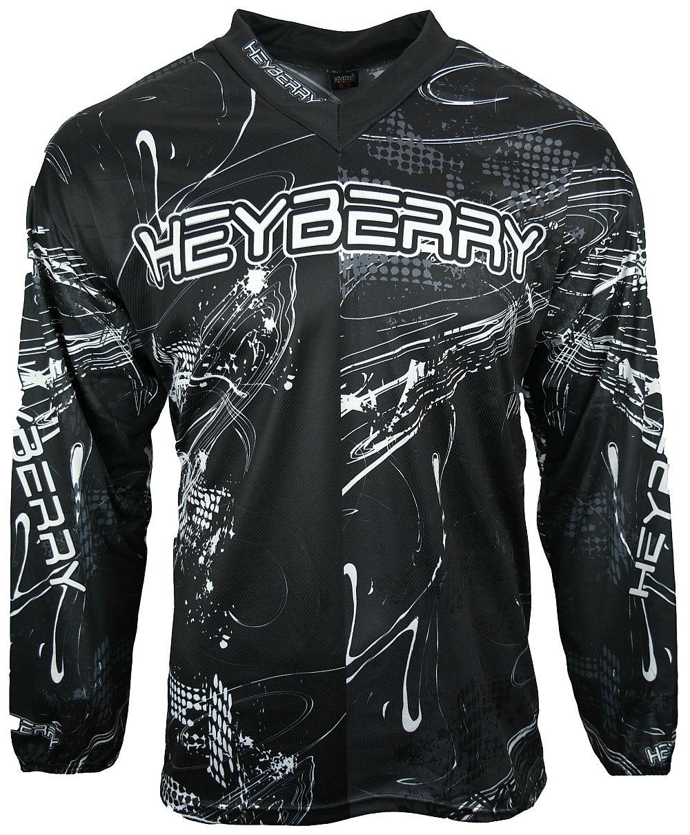 Heyberry Motocross MX Shirt Jersey Trikot schwarz weiß Gr. M - XXL