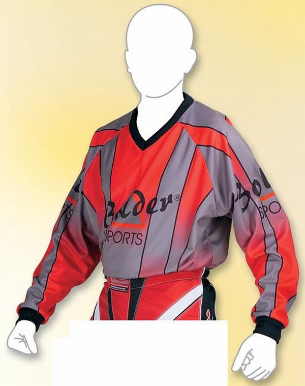 Kinder Motocross Shirt  Farbe: rot Gr. 116 - 164