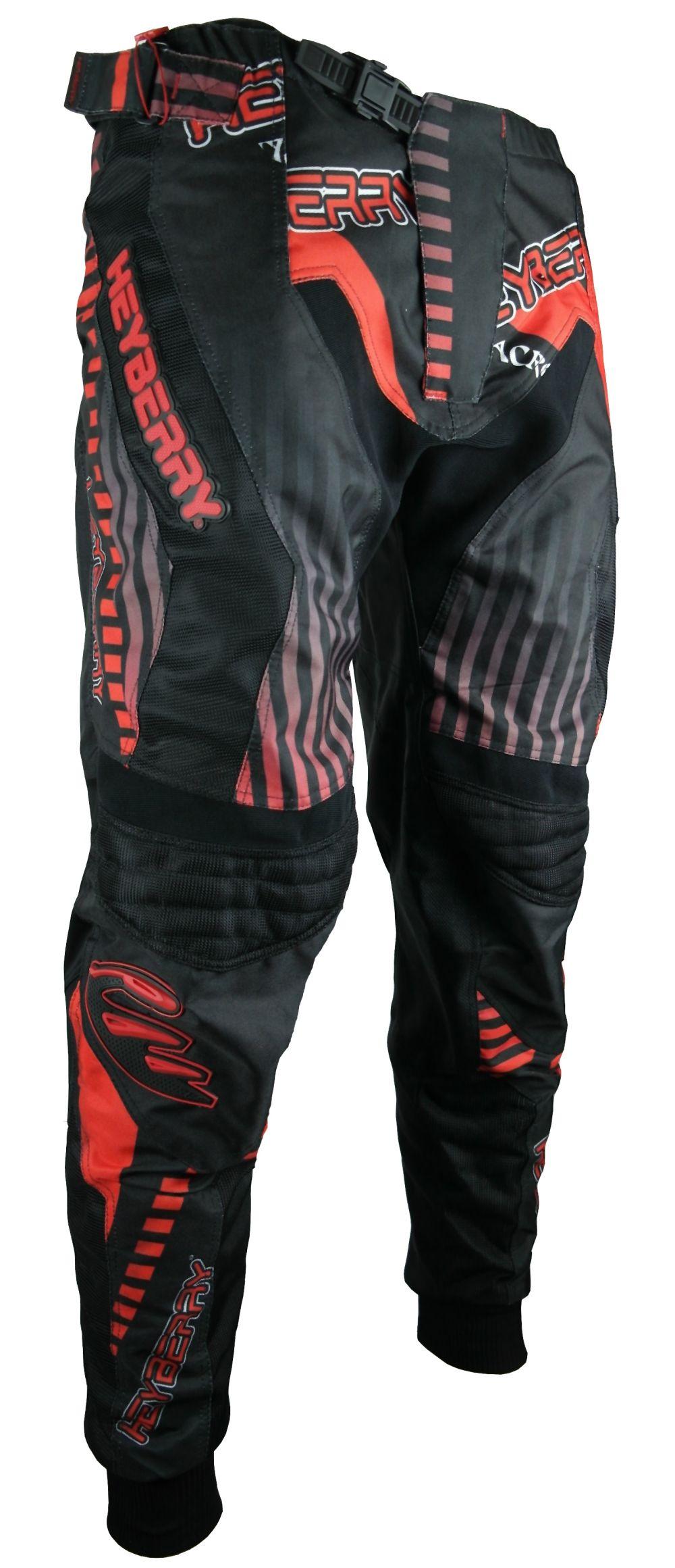 Heyberry Motocross Enduro Quad Hose schwarz rot Gr. M L XL XXL