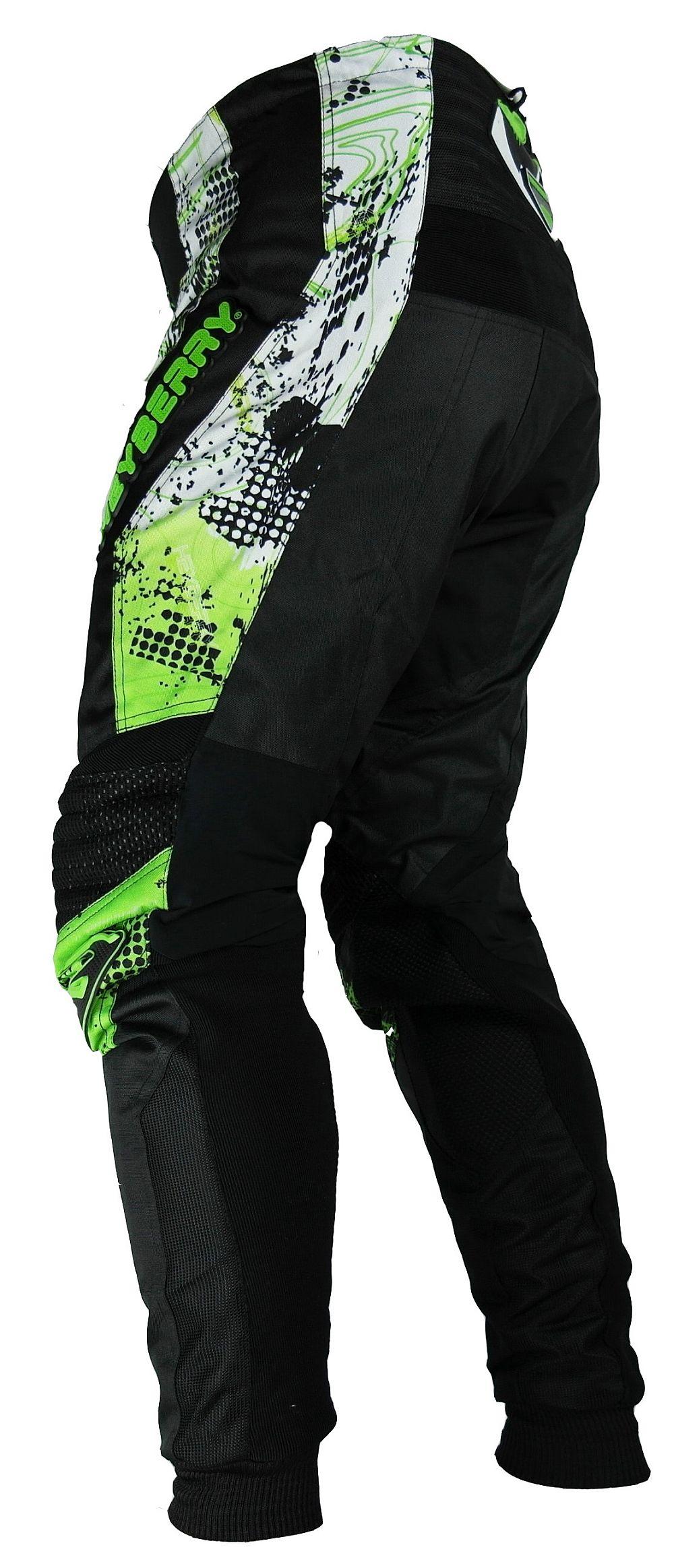 Heyberry Motocross Enduro Quad Hose schwarz grün Gr. M - XXL
