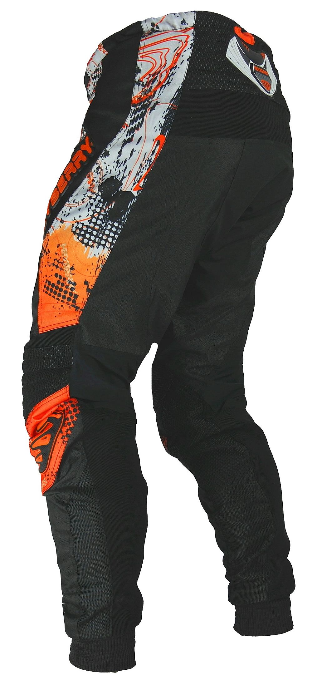Heyberry Motocross Enduro Quad Hose schwarz orange Gr. M - XXL