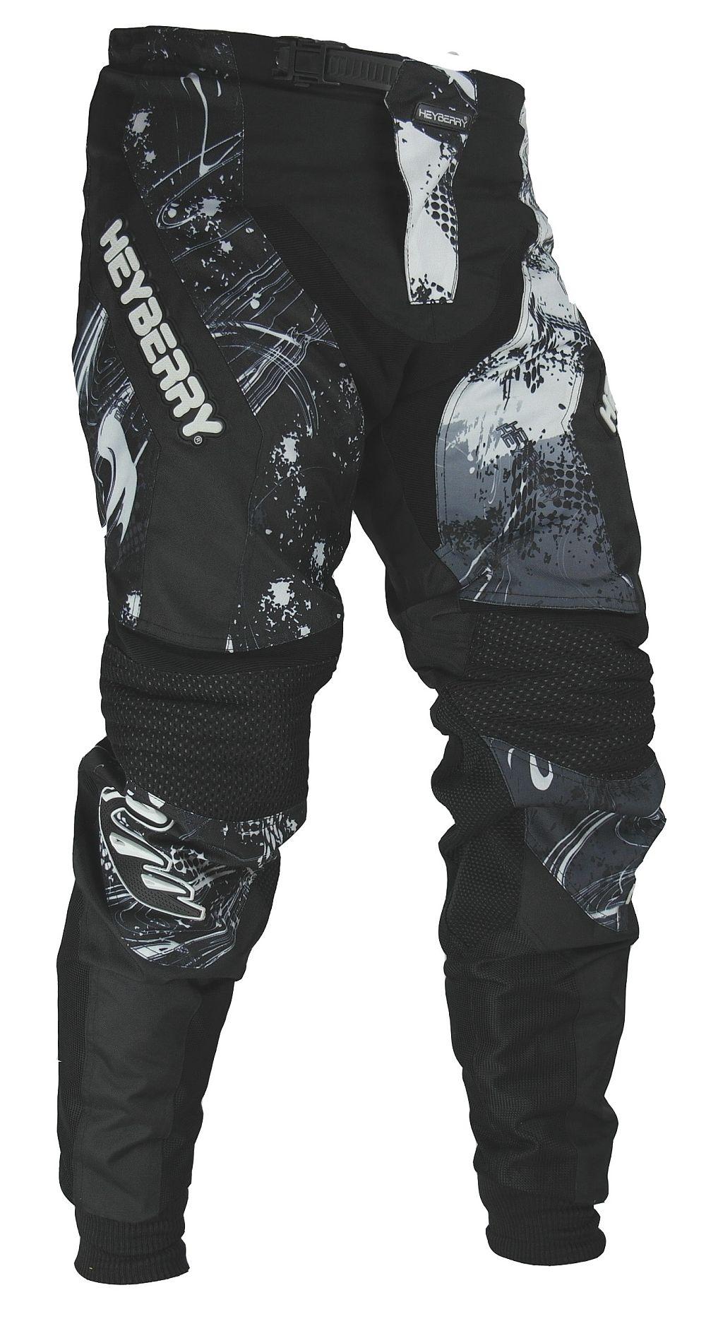 Heyberry Motocross Enduro Quad Hose schwarz weiß Gr. M - XXL