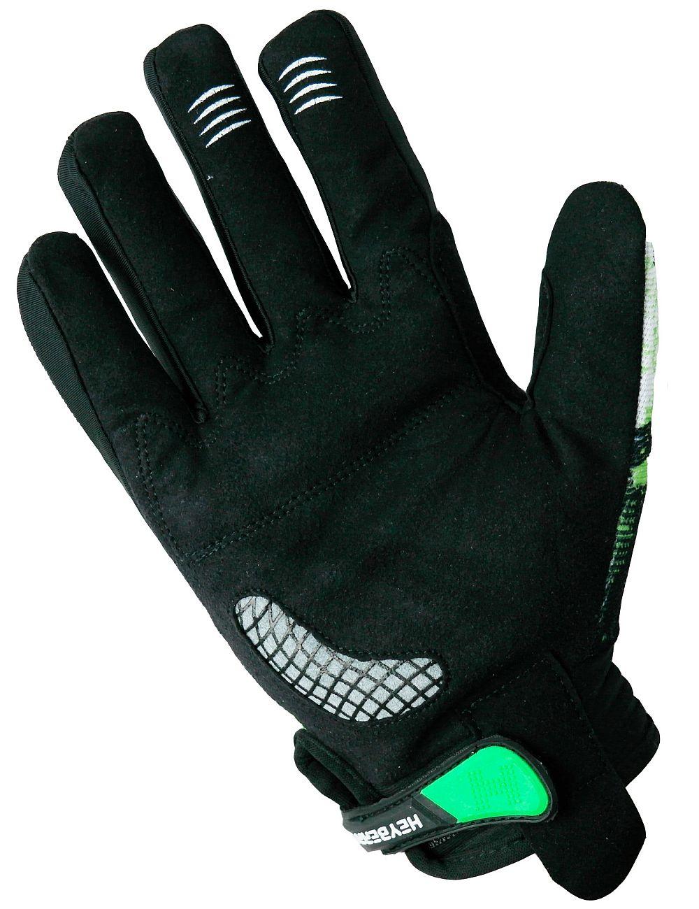 Heyberry Motocross MX Handschuhe schwarz weiß grün Gr. S - XXL