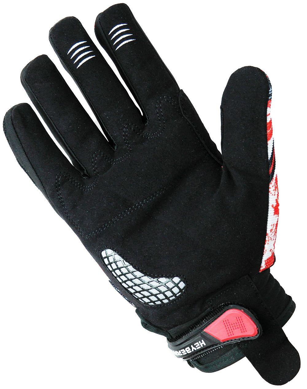 Heyberry Motocross MX Handschuhe schwarz weiß rot Gr. S - XXL
