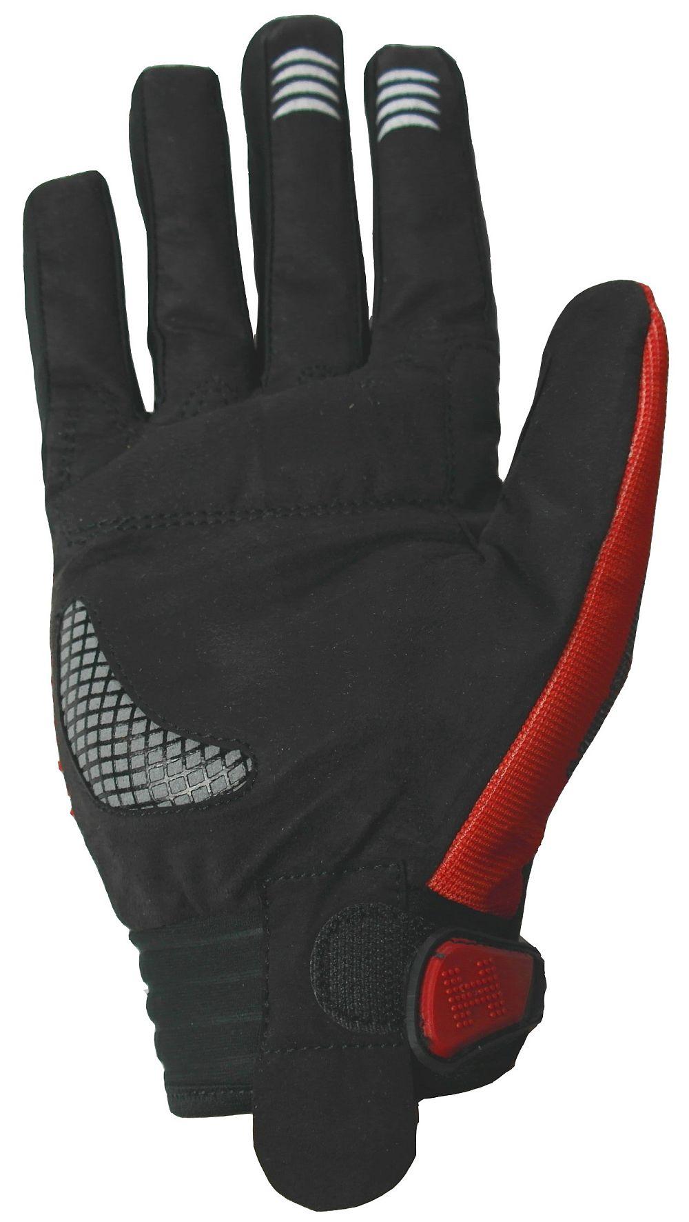 Heyberry Motocross Enduro MX Handschuhe schwarz rot weiß Gr. M - XXL