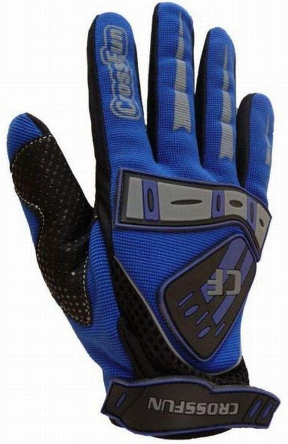 Kinder Motocross Handschuhe blau Größe 5 - XL