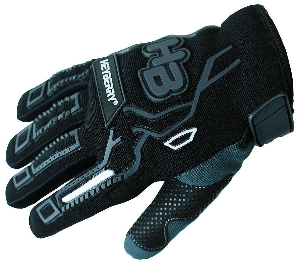 Heyberry Motocross MTB MX Handschuhe schwarz grau Gr. S - XXL
