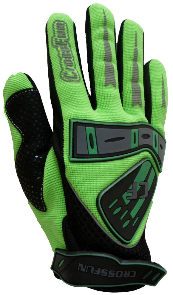 Kinder Motocross Handschuhe grün Größe 5 - XS