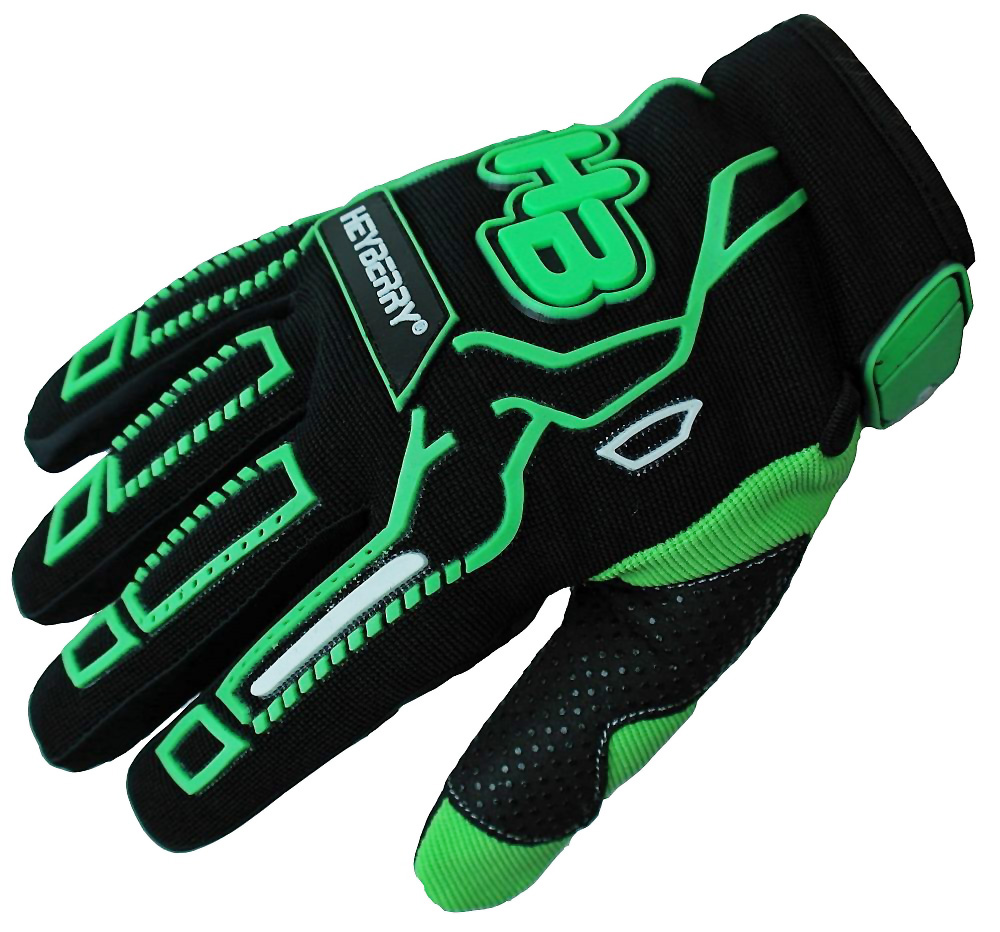 Heyberry Motocross MTB MX Handschuhe schwarz grün Gr. S - XXL