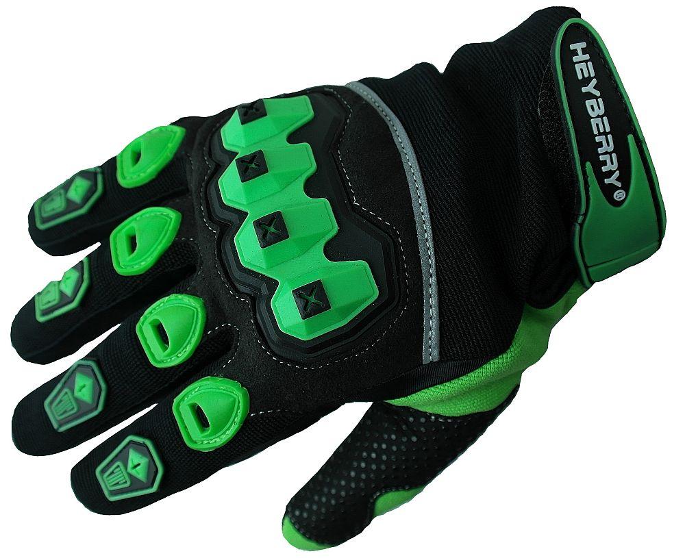 Heyberry Motocross Offroad MTB MX Handschuhe schwarz grün Gr. S - XXL