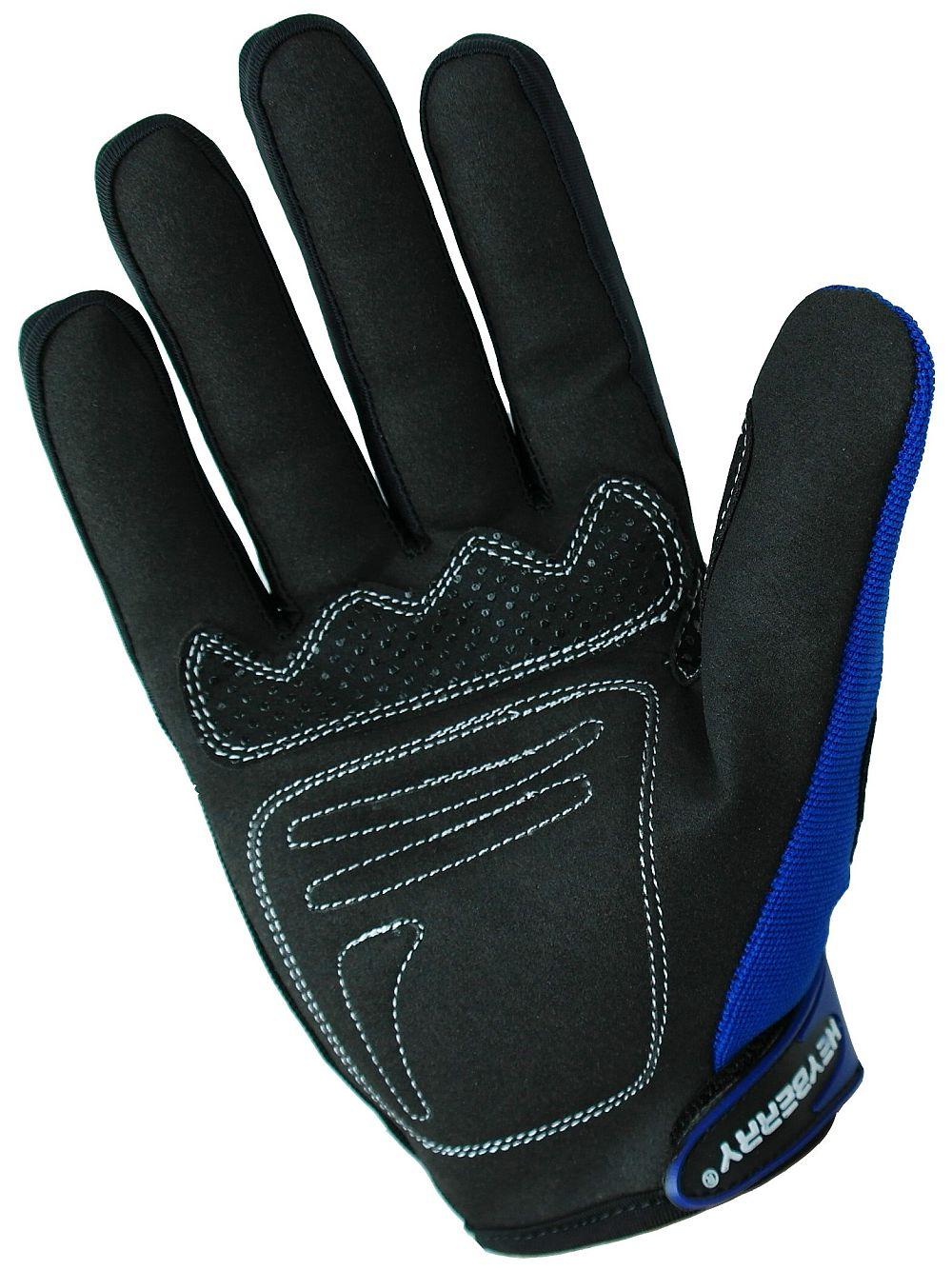Heyberry Motocross MTB MX Handschuhe schwarz blau Gr. S - XXL
