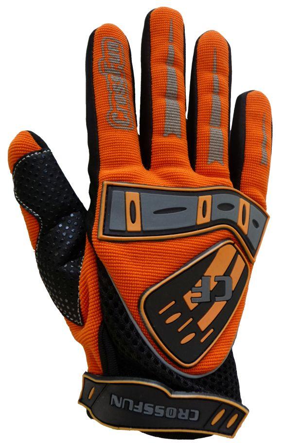 Kinder Motocross Handschuhe orange Größe 5 - XS