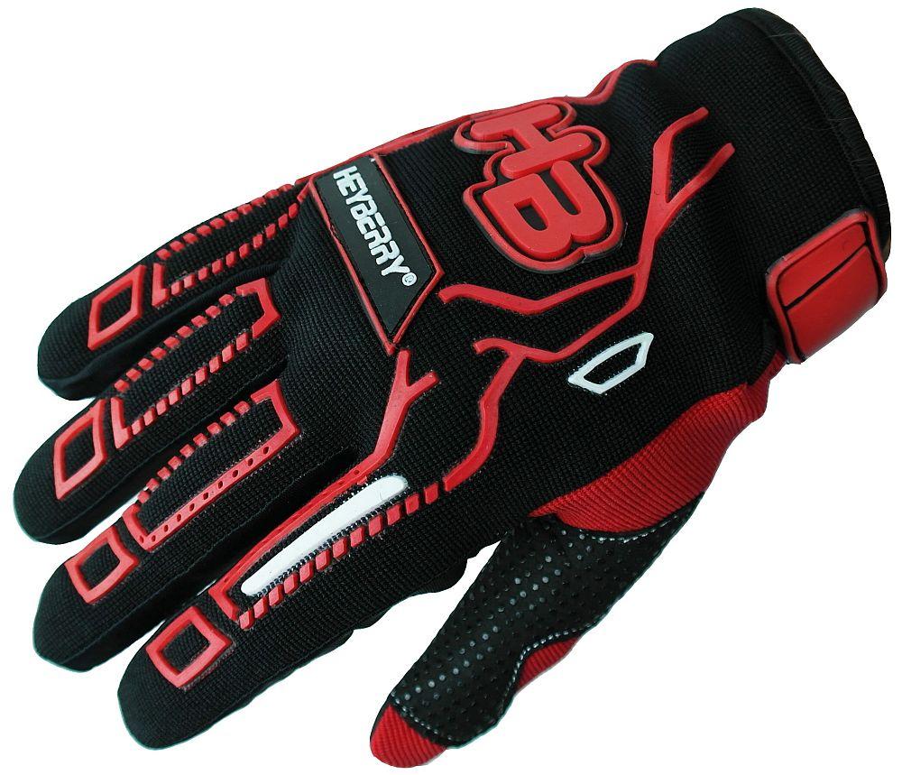 Heyberry Motocross MTB MX Handschuhe schwarz rot Gr. S - XXL