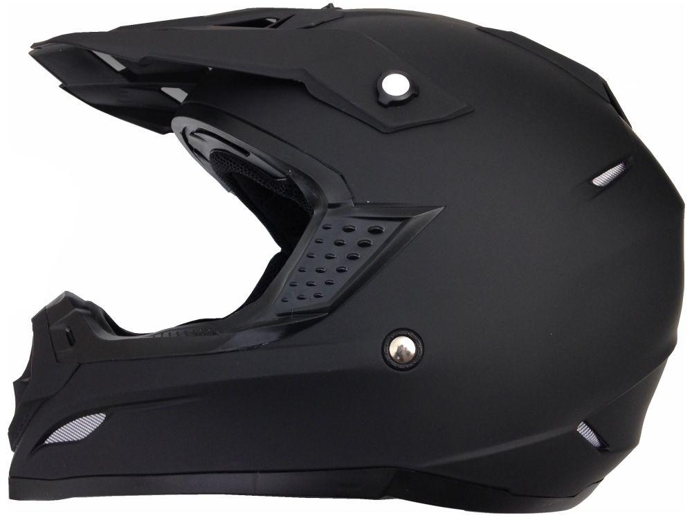 Motorradhelm Motocross Enduro Quad Helm Schwarz Gr. L