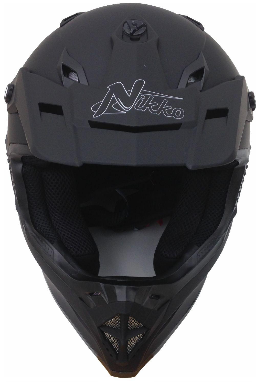 Motorradhelm Motocross Enduro Quad Helm Schwarz Gr. M