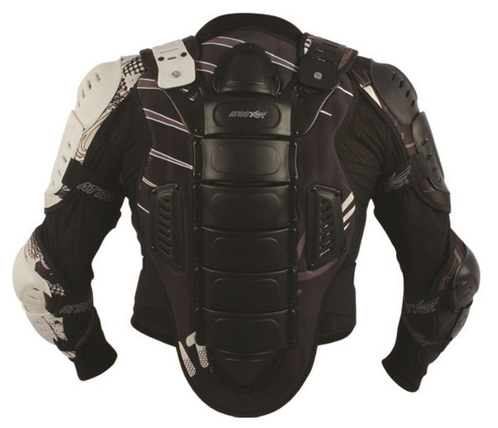 Protektorjacke Brustpanzer Protektorenhemd schwarz weiß Größe S - XXL