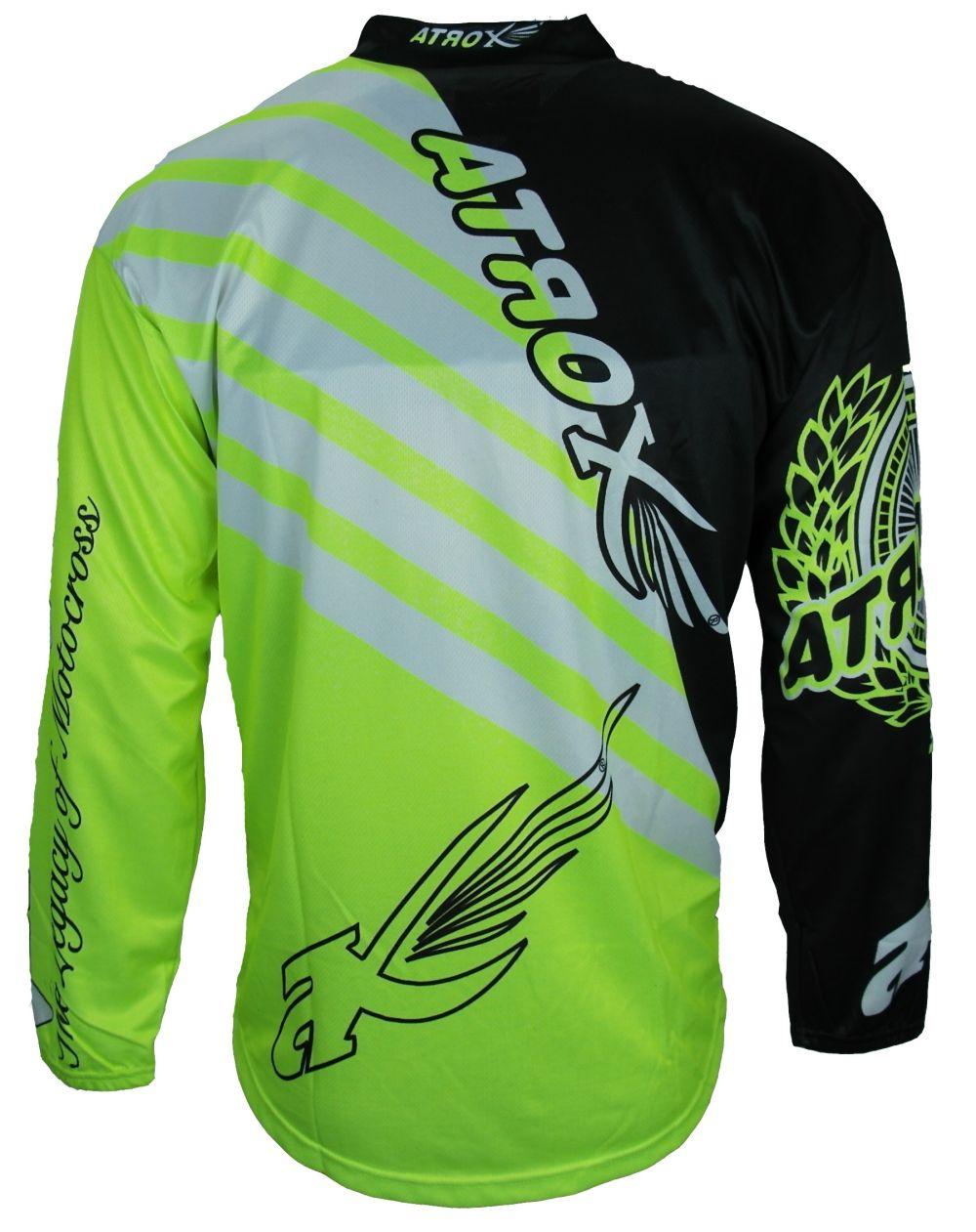 Heyberry MX-Cross Quad Motocross Shirt Jersey Trikot schwarz weiß grün M bis XXL