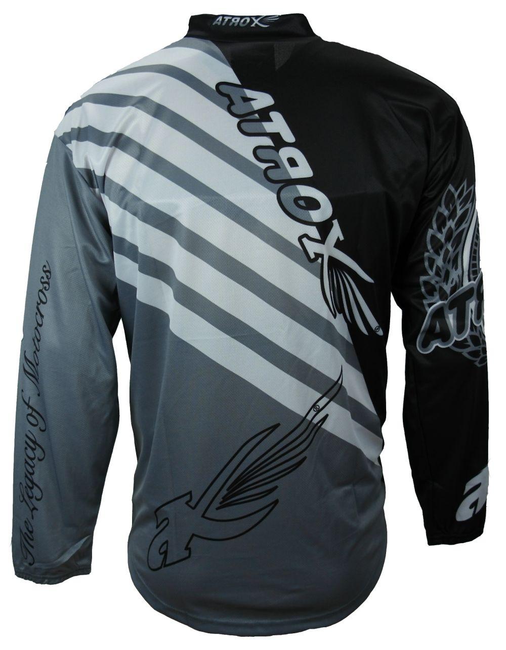Heyberry MX-Cross Quad Motocross Shirt Jersey Trikot schwarz weiß grau M - XXL