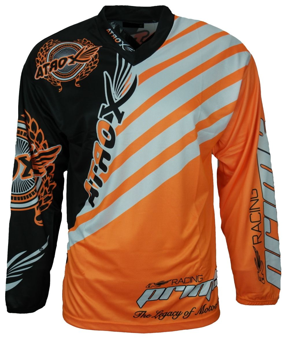Heyberry MX-Cross Quad Motocross Shirt Jersey Trikot schwarz weiß orange M - XXL