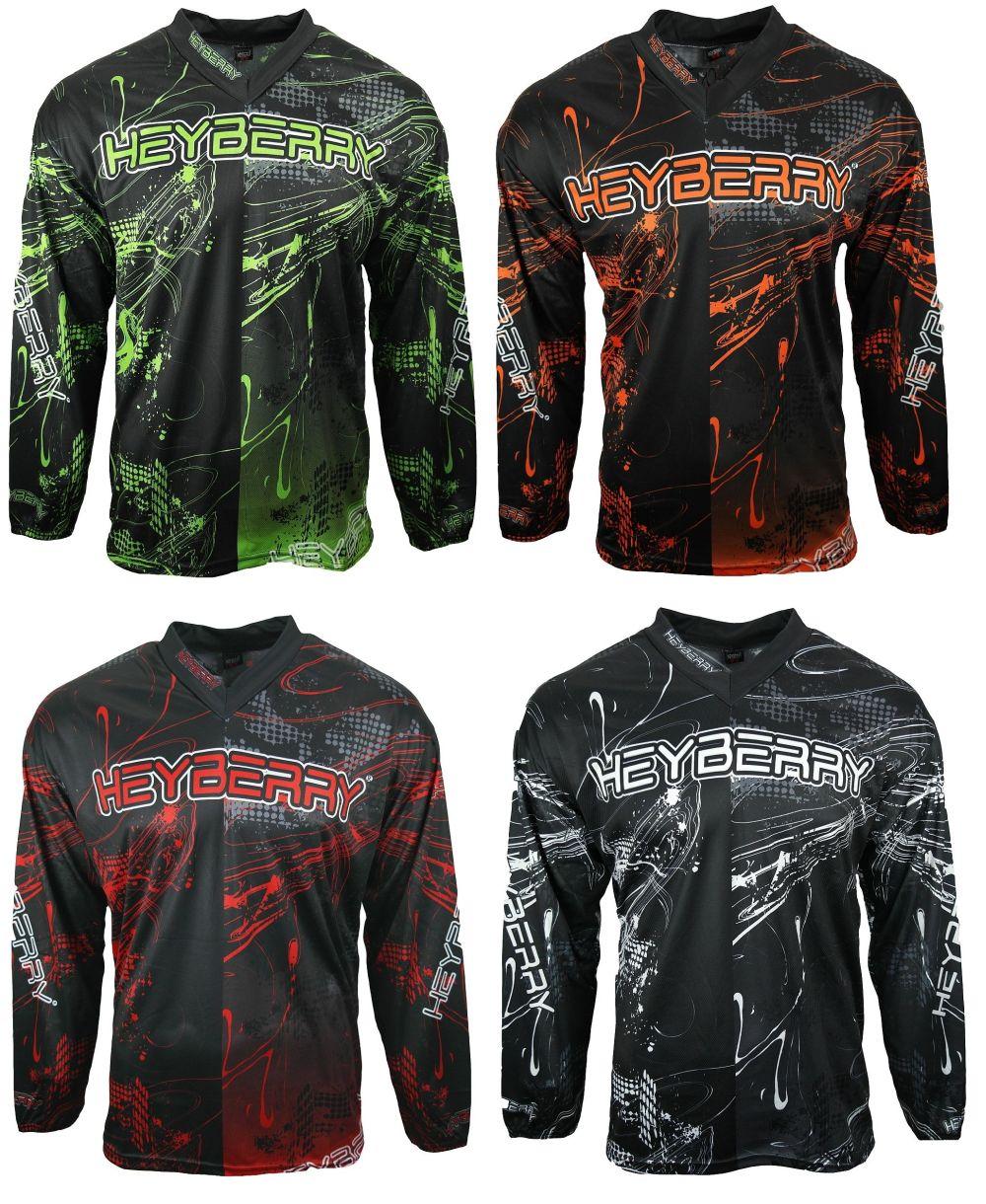 Heyberry MX-Cross Quad Motocross Shirt Jersey Trikot schwarz weiß orange M XXL