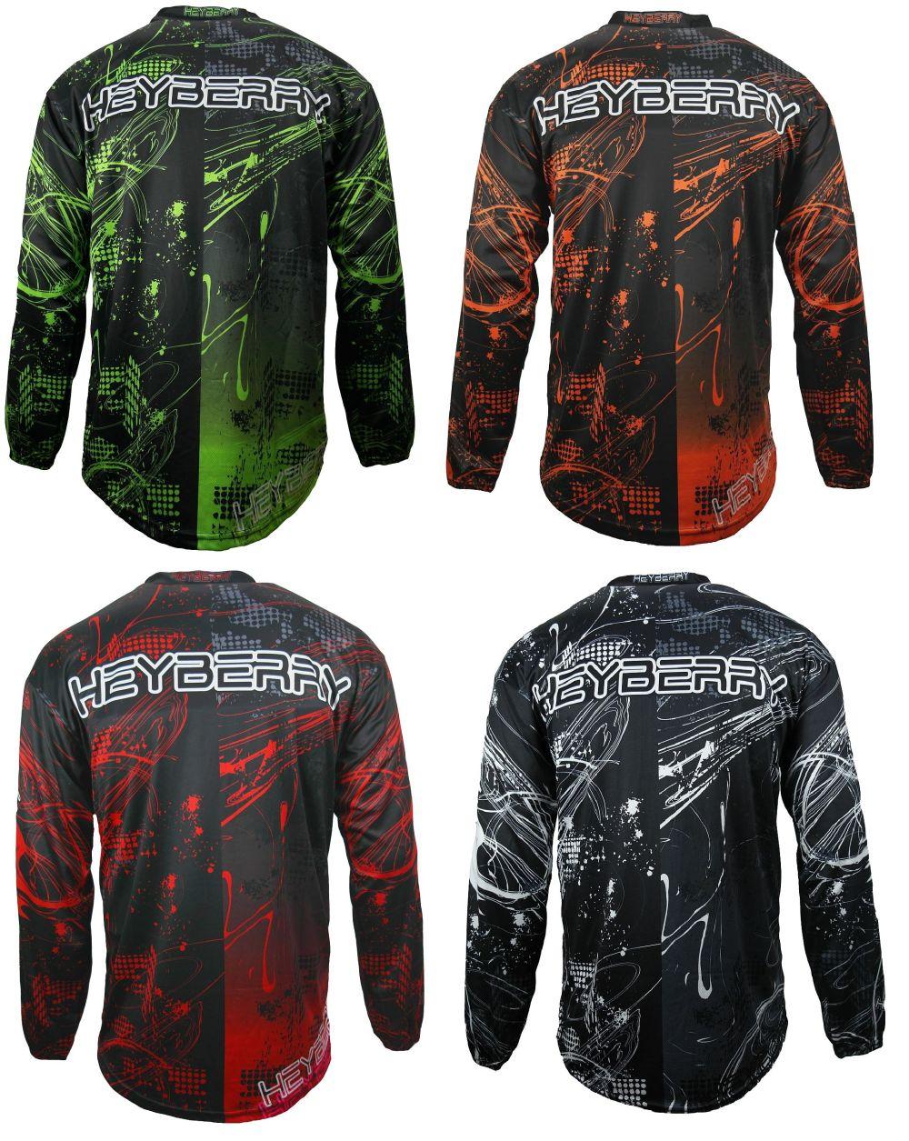 Heyberry MX-Cross Quad Motocross Shirt Jersey Trikot schwarz weiß grau M XXL