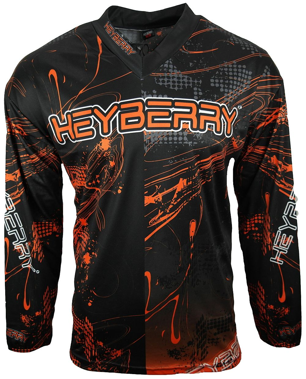 Heyberry Motocross MX Shirt Jersey Trikot schwarz orange Gr. M - XXL