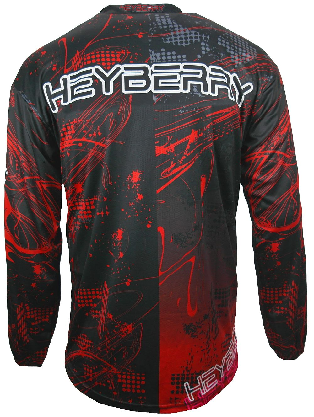 Heyberry Motocross MX Shirt Jersey Trikot schwarz rot Gr. M - XXL