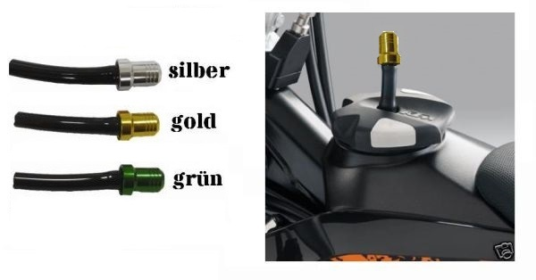 Belüftungsventil für Tankdeckel aus Alu Farbe : gold